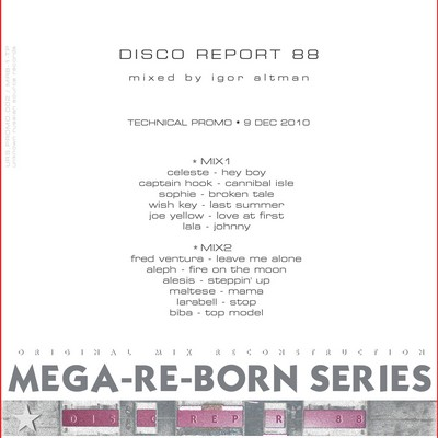 Altman Disco Report Mix '88 [2010]
