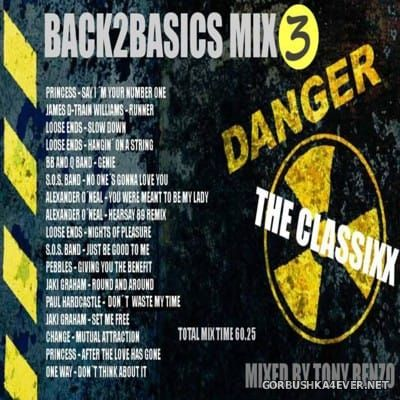 Back2Basics The Classixx Mix vol 03 [2016] by Tony Renzo