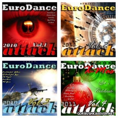 EuroDance Attack vol 01 - vol 04 [2010]