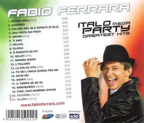 Fabio Ferrara - Italo Mega Party Greatest Hits Mix [2006]