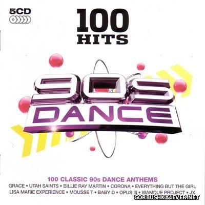 100 Hits - 90s Dance [2010] / 5xCD