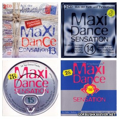 Maxi Dance Sensation vol 13 - vol 16 [1994-1995] / 8xCD