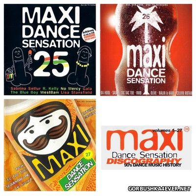 Maxi Dance Sensation vol 25 - vol 27 [1996-1997] / 6xCD