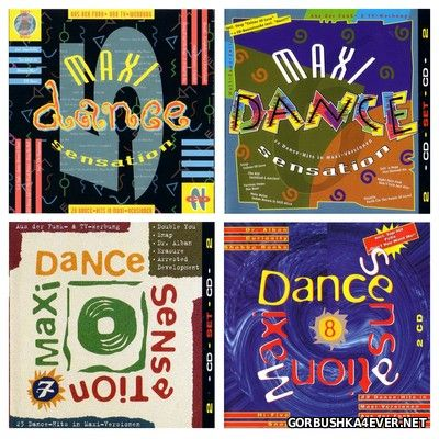Maxi Dance Sensation vol 05 - vol 08 [1991-1992] / 8xCD