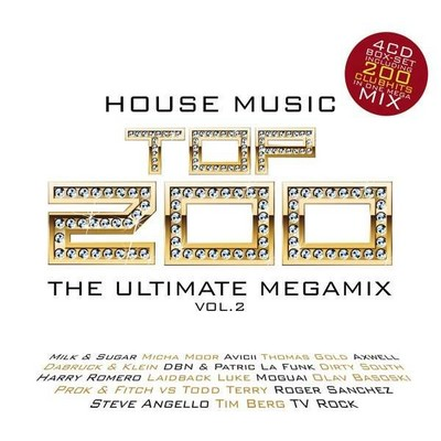 House Music Top200 The Ultimate Megamix 02 [2011] / 4xCD