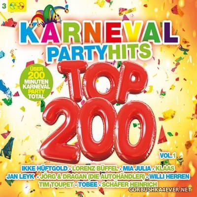 Karneval Partyhits Top 200 vol 1 [2017] / 3xCD / Mixed by DJ Deep