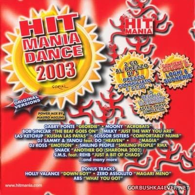 Hit Mania Dance 2003 / Mixed by Mauro Miclini
